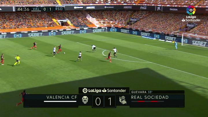 Gol de Isak (0-2) en el Valencia 2-2 Real Sociedad