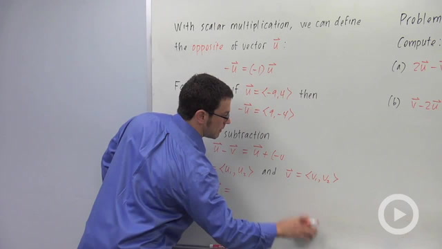 Addition and Scalar Multiplication of Vectors - Problem 2