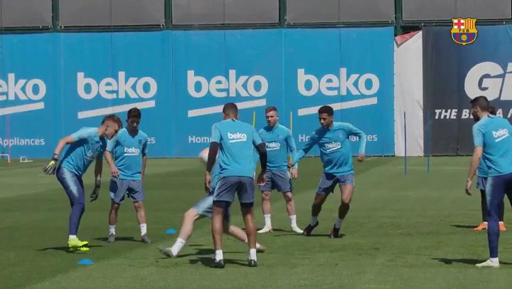 El Barça vuelve a los entrenamientos con el pensamiento puesto en la final de Copa