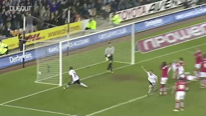Gols do Derby County contra o Nottingham Forest