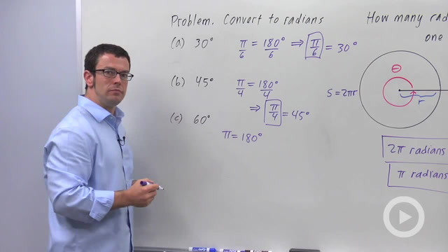 Radian Measure of Angles - Problem 2