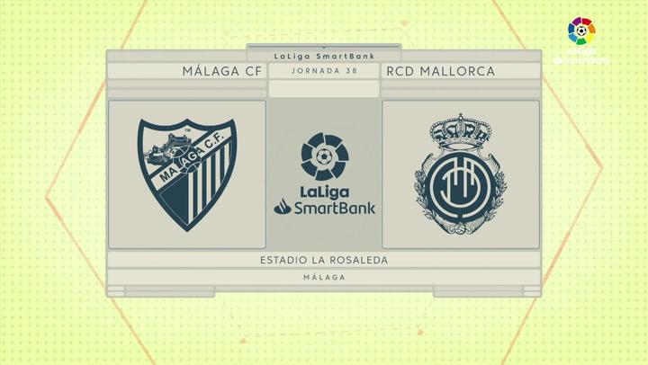 LaLiga SmartBank (J38): Resumen y goles del Málaga 1-1 Mallorca
