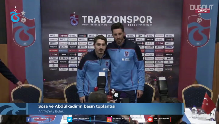 Trabzonspor Press Conference with Sosa and Abdulkadir