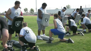 Raiders Hold Camp for Local Offensive, Defensive Lineman- Video