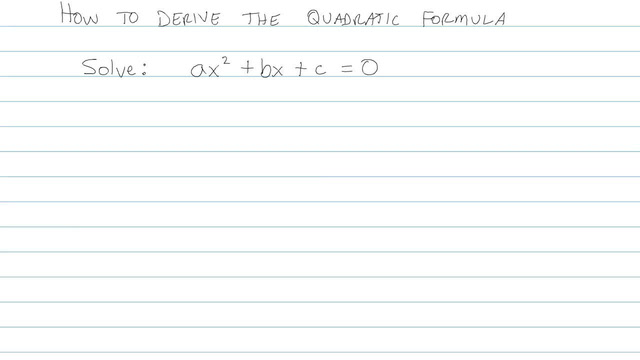 The Quadratic Formula - Problem 9