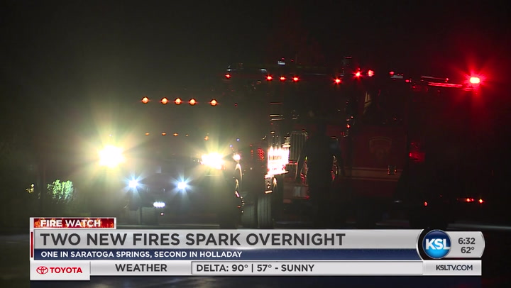 Two New Fires Spark Near Homes Monday Night