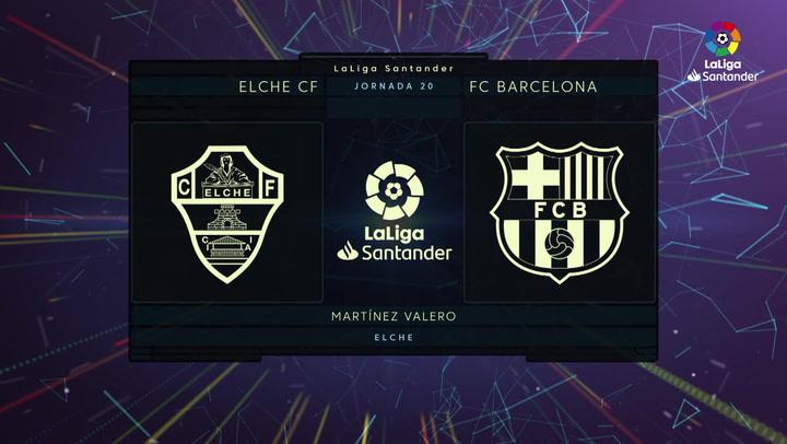 LaLiga Santander (Jornada 20): Elche 0-2 Barcelona
