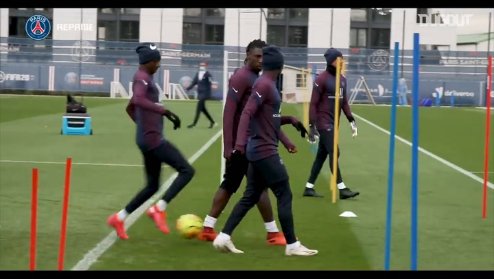 Moise Kean's first training session with Paris Saint-Germain