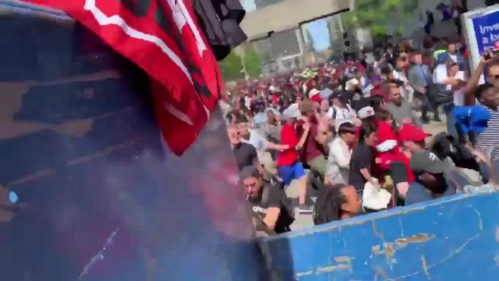 Estampida en Toronto tras un tiroteo durante la celebración de los Raptors