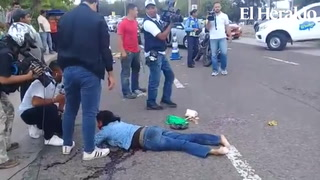 Mujer es atropellada en bulevar Kuwait de Tegucigalpa