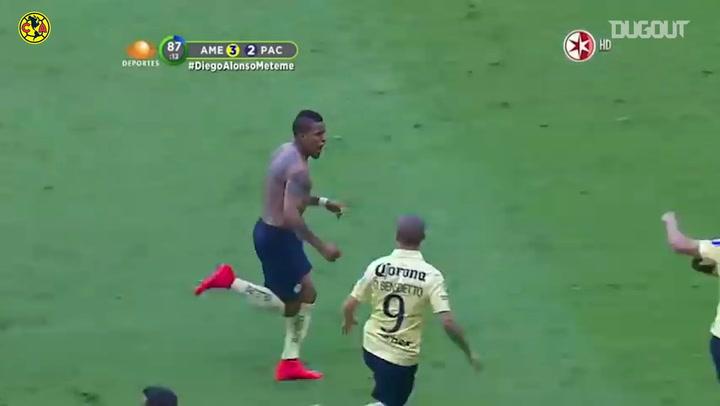 Michael Arroyo's amazing free-kick goal vs Pachuca
