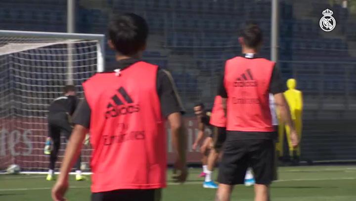 Último entrenamiento del Real Madrid antes de partido ante el Red Bull Salzburgo