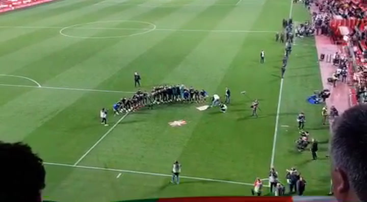 Así fue la celebración de los jugadores del Athletic Club con los aficionados la calificación para la final