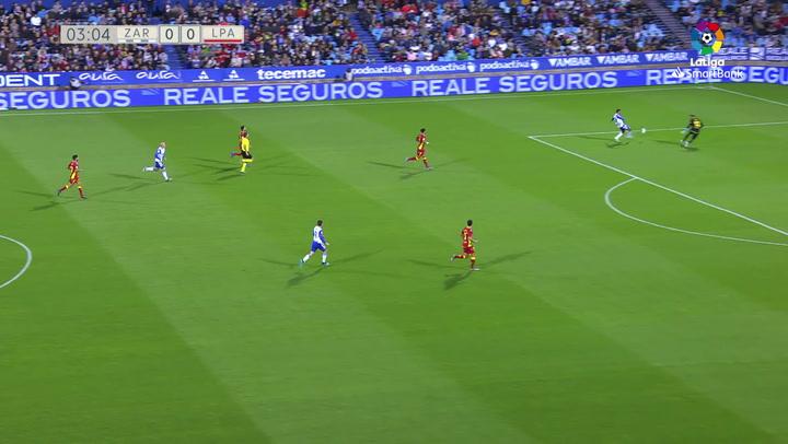 Gol de Luis Suárez (1-0). Zaragoza 3-0 Ud Las Palmas J14 LUIS SUAREZ