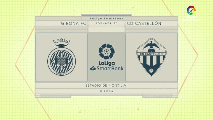 LaLiga SmartBank (J26): Resumen y goles del Girona 2-1 Castellón
