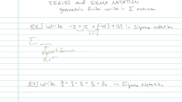 Series and Summation Notation - Problem 9