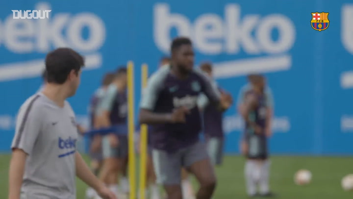 Barça Practice Their Shooting Ahead Of Real Sociedad