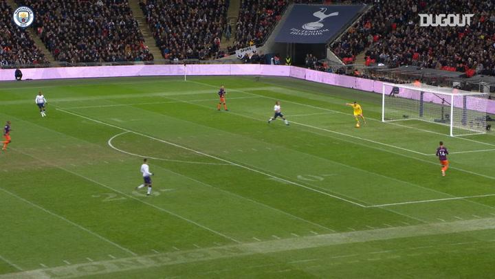 Team Goals: Riyad Mahrez vs Tottenham Hotspur