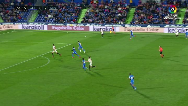 Gol de Koundé (0-3) en el Getafe 0-3 Sevilla