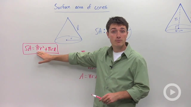 Surface Area of Cones - Problem 2