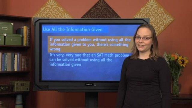 SAT Math Tips