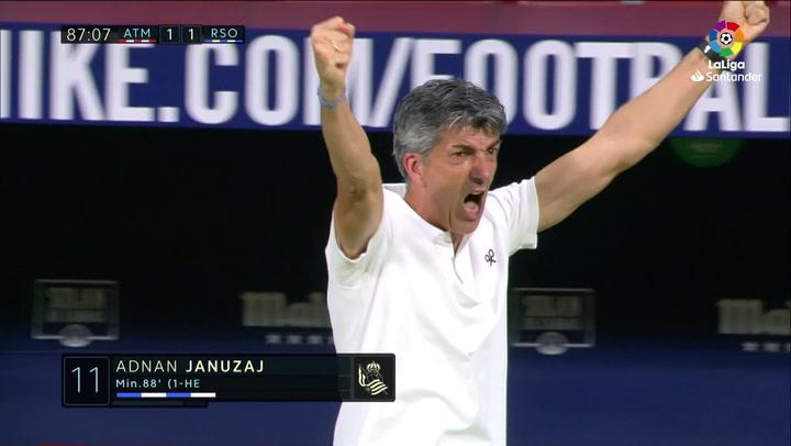 Gol de Januzaj (1-1) en el Atlético 1-1 Real Sociedad