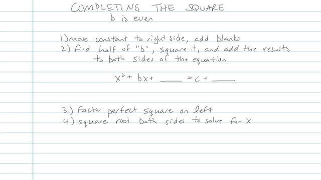 Completing the Square - Problem 7