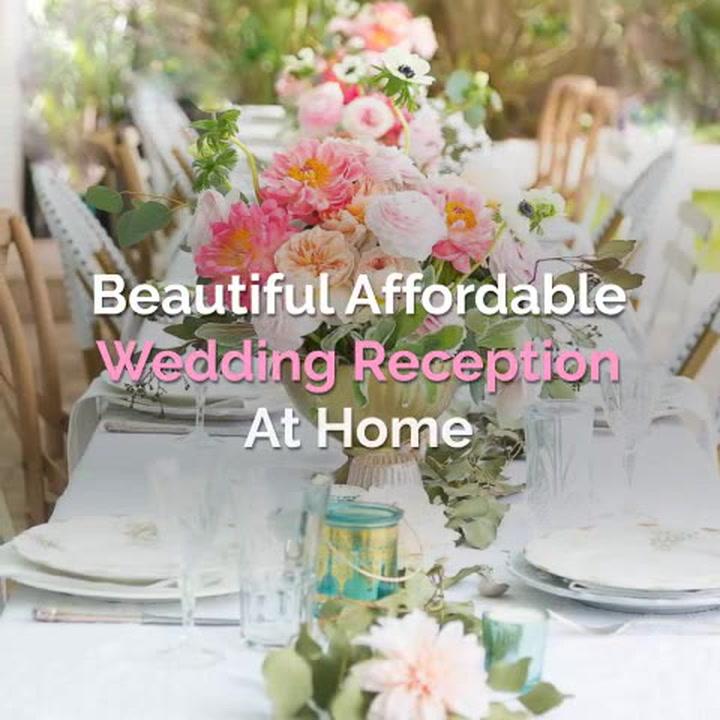 Beautiful Affordable Wedding Reception At Home Shabbyfufu