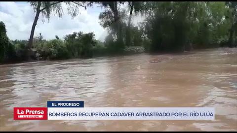 Bomberos recuperan cadáver de hombre arrastrado por el río Ulúa