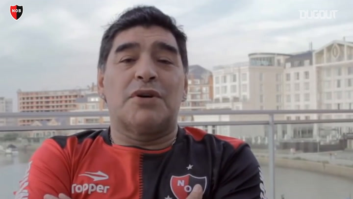Diego Armando Maradona Has A Message For Newell's Fans