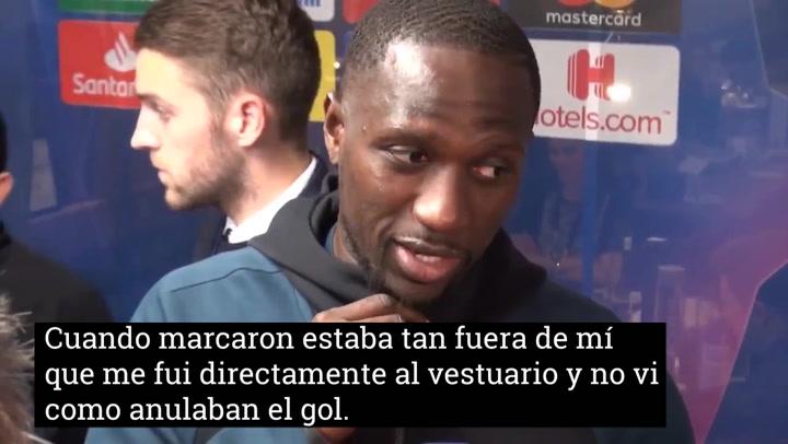 Moussa Sissoko no se enteró de que el Tottenham había eliminado al Manchester City