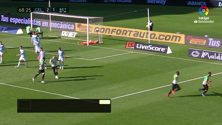Gol de Fekir (2-2) en el Celta 2-3 Betis