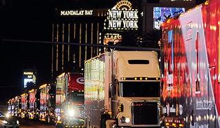 NASCAR Hauler Parade in Las Vegas
