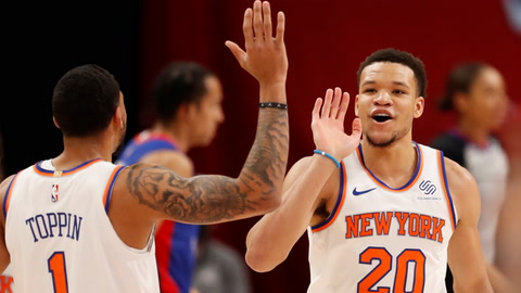 Knicks get a big win with a big game against the Pistons