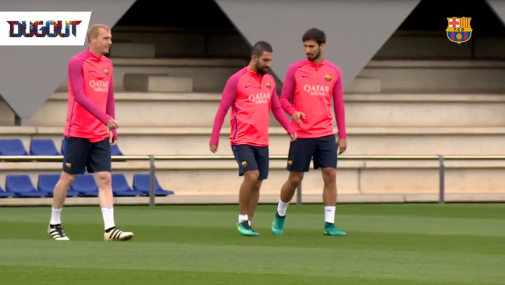 MSN On The Training Pitch