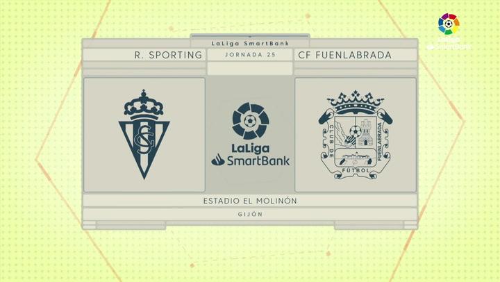 LaLiga SmartBank (J25): Resumen y gol del Sporting 1-0 Fuenlabrada