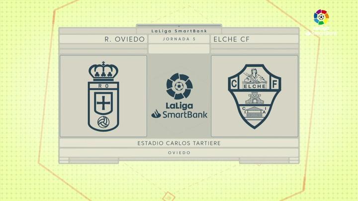 LaLiga SmartBank (J5): Resumen y goles Real Oviedo 0-2 Elche