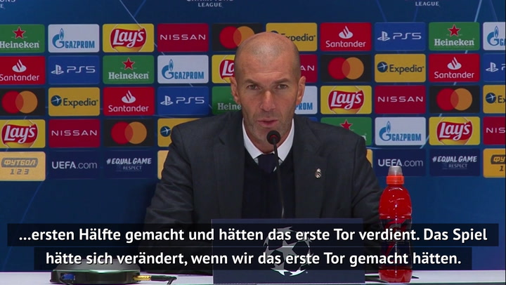 Zidane trotz CL-Schlappe: Ich trete nicht zurück!