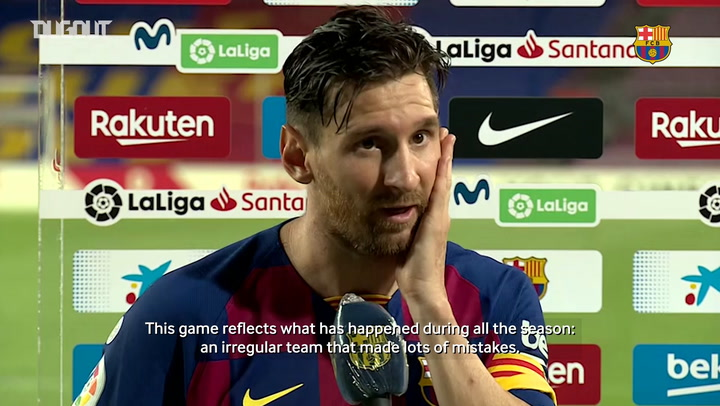 Leo Messi: 'We were an irregular team this season'