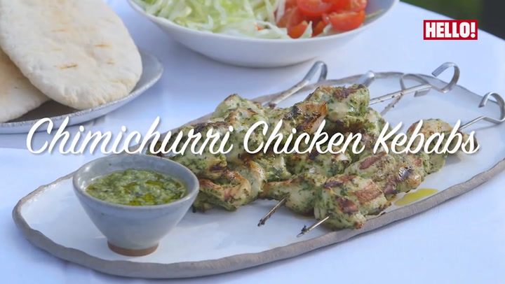 Lisa Faulkner\'s delicious Chimichurri Chicken Kebabs