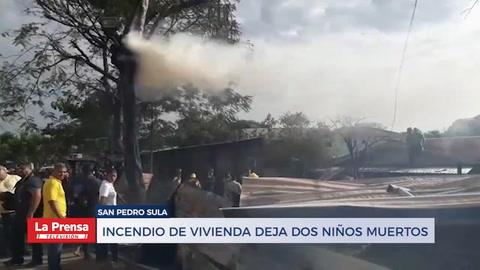 Incendio de vivienda deja dos niños muertos en Limonar