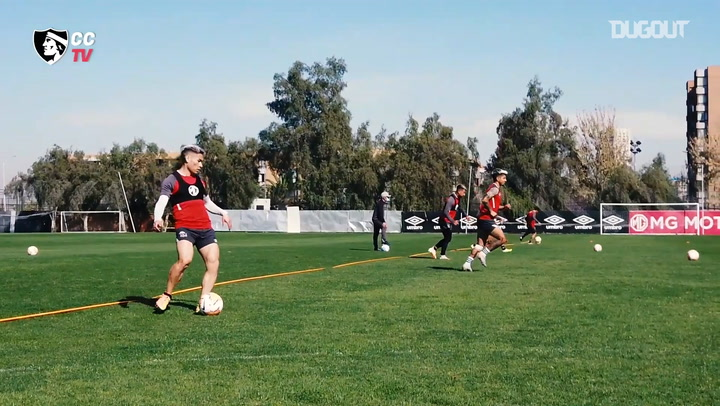 Colo-Colo train ahead of their game vs Athletico Paranaense