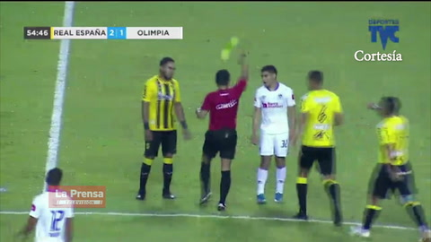 Video: La injusta expulsión de Carlos Pineda en el Real España vs Olimpia