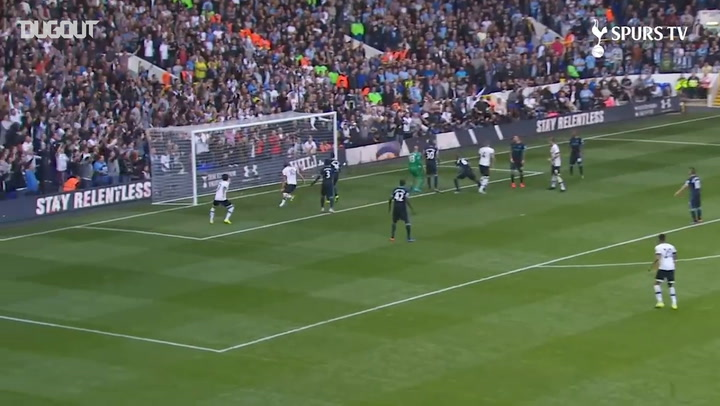 Toby Alderweireld's heads home first Spurs goal vs Man City