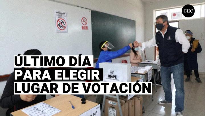 ONPE: La fecha de elección de lugar de sufragio vence hoy