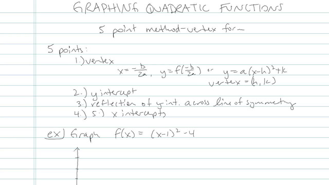 Graphing Quadratic Equations - Problem 7