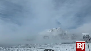 Timelapse of snow at Red Rock Canyon