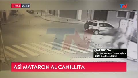 Divulgaron el video del crimen del canillita y hay un detenido
