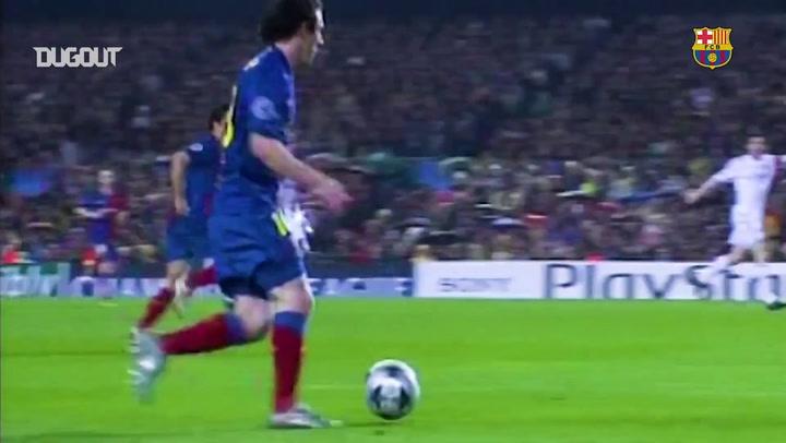 أفضل التمريرات الحاسمة لليونيل ميسي في الدوري الأسباني