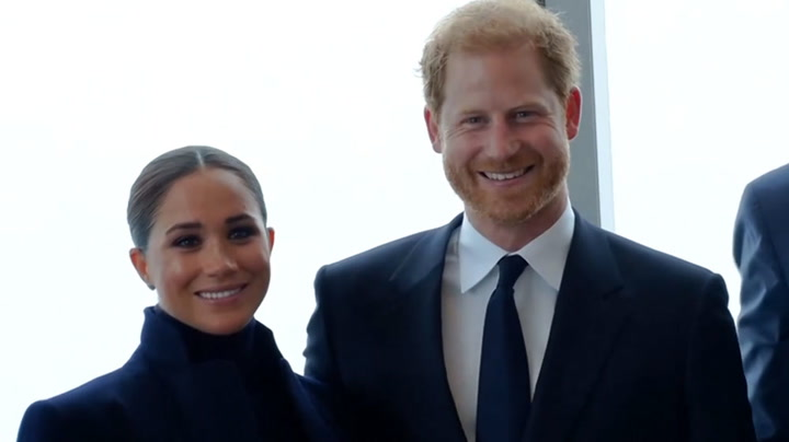 Watch live as Prince Harry, Meghan and New York mayor visit One World Observatory